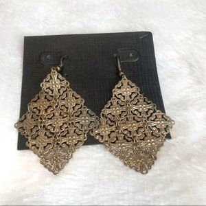 Premier Designs Antique Gold Finish Dangle Earring